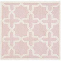 Safavieh Cambridge 4-Foot x 4-Foot Ana Wool Rug in Light Pink/Ivory