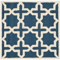 Safavieh Cambridge 4-Foot x 4-Foot Ana Wool Rug in Navy Blue/Ivory