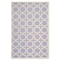 Safavieh Cambridge 5-Foot x 8-Foot Ana Wool Rug in Lavander/Ivory