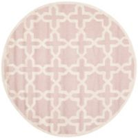 Safavieh Cambridge 6-Foot x 6-Foot Ana Wool Rug in Light Pink/Ivory