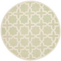 Safavieh Cambridge 6-Foot x 6-Foot Ana Wool Rug in Light Green/Ivory