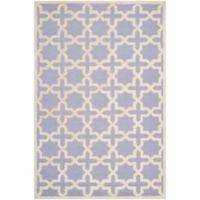 Safavieh Cambridge 6-Foot x 9-Foot Ana Wool Rug in Lavander/Ivory