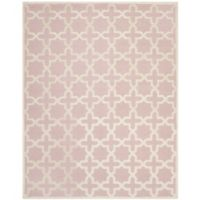 Safavieh Cambridge 7-Foot 6-Inch x 9-Foot 6-Inch Ana Wool Rug in Light Pink/Ivory