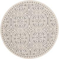 Safavieh Cambridge 4-Foot x 4-Foot Gena Wool Rug in Silver/Ivory