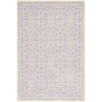 Safavieh Cambridge 4-Foot x 6-Foot Gena Wool Rug in Lavander/Ivory