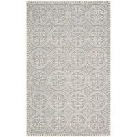 Safavieh Cambridge 5-Foot x 8-Foot Gena Wool Rug in Silver/Ivory