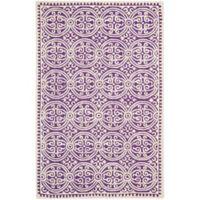 Safavieh Cambridge 5-Foot x 8-Foot Gena Wool Rug in Purple/Ivory