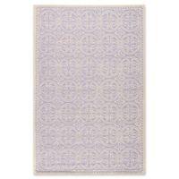 Safavieh Cambridge 5-Foot x 8-Foot Gena Wool Rug in Lavander/Ivory