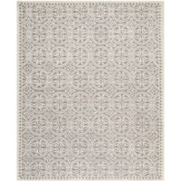 Safavieh Cambridge 7-Foot 6-Inch x 9-Foot 6-Inch Gena Wool Rug in Silver/Ivory