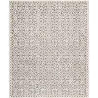 Safavieh Cambridge 8-Foot x 10-Foot Gena Wool Rug in Silver/Ivory