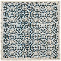 Safavieh Cambridge 9-Foot x 9-Foot Gena Wool Rug in Navy Blue/Ivory