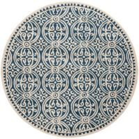 Safavieh Cambridge 9-Foot x 9-Foot Gena Wool Rug in Navy Blue/Ivory