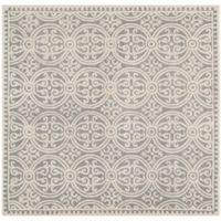 Safavieh Cambridge 9-Foot x 9-Foot Gena Wool Rug in Silver/Ivory
