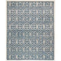 Safavieh Cambridge 9-Foot x 12-Foot Gena Wool Rug in Navy Blue/Ivory