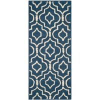 Safavieh Cambridge 2-Foot 6-Inch x 6-Foot Taylor Wool Rug in Navy Blue/Ivory