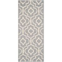 Safavieh Cambridge 2-Foot 6-Inch x 6-Foot Taylor Wool Rug in Silver/Ivory