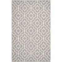 Safavieh Cambridge 4-Foot x 6-Foot Taylor Wool Rug in Silver/Ivory