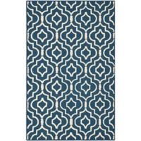 Safavieh Cambridge 4-Foot x 6-Foot Taylor Wool Rug in Navy Blue/Ivory