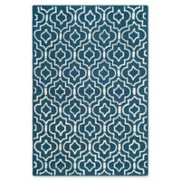Safavieh Cambridge 6-Foot x 9-Foot Taylor Wool Rug in Navy Blue/Ivory