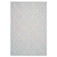 Safavieh Cambridge 6-Foot x 9-Foot Taylor Wool Rug in Light Blue/Ivory