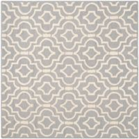 Safavieh Cambridge 8-Foot x 8-Foot Taylor Wool Rug in Silver/Ivory