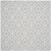 Safavieh Cambridge 8-Foot x 8-Foot Taylor Wool Rug in Light Blue/Ivory