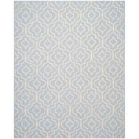 Safavieh Cambridge 9-Foot x 12-Foot Taylor Wool Rug in Light Blue/Ivory