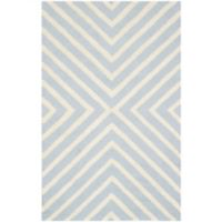 Safavieh Cambridge 2-Foot 6-Inch x 4-Foot Jenn Wool Rug in Light Blue/Ivory