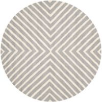 Safavieh Cambridge 6-Foot x 6-Foot Jenn Wool Rug in Silver/Ivory