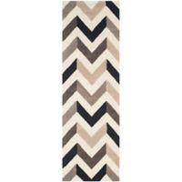 Safavieh Cambridge 2-Foot 6-Inch x 12-Foot Briana Wool Rug in Ivory/Black