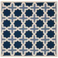 Safavieh Cambridge 4-Foot x 4-Foot Dana Wool Rug in Blue/Ivory
