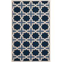 Safavieh Cambridge 5-Foot x 8-Foot Dana Wool Rug in Blue/Ivory
