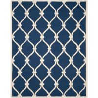 Safavieh Cambridge 8-Foot x 10-Foot Emma Wool Rug in Navy /Ivory