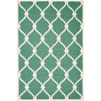 Safavieh Cambridge 8-Foot x 10-Foot Emma Wool Rug in Teal/Ivory