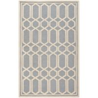 Safavieh Cambridge 8-Foot x 10-Foot Rae Wool Rug in Silver/Ivory