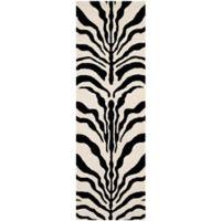 Safavieh Cambridge 2-Foot 6-Inch x 8-Foot Dina Wool Rug in Ivory/Black