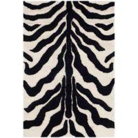 Safavieh Cambridge 3-Foot x 5-Foot Dina Wool Rug in Ivory/Black