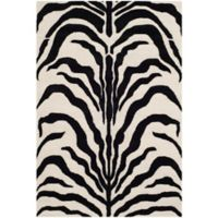 Safavieh Cambridge 4-Foot x 6-Foot Dina Wool Rug in Ivory/Black