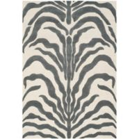 Safavieh Cambridge 4-Foot x 6-Foot Dina Wool Rug in Ivory/Dark Grey