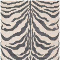 Safavieh Cambridge 6-Foot x 6-Foot Dina Wool Rug in Ivory/Dark Grey