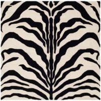 Safavieh Cambridge 6-Foot x 6-Foot Dina Wool Rug in Ivory/Black