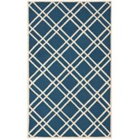 Safavieh Cambridge 4-Foot x 6-Foot Trina Wool Rug in Navy Blue/Ivory
