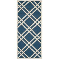 Safavieh Cambridge 2-Foot 6-Inch x 6-Foot Trina Wool Rug in Navy Blue/Ivory