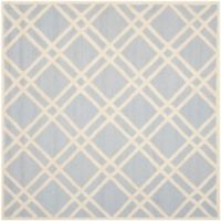 Safavieh Cambridge 6-Foot x 6-Foot Trina Wool Rug in Light Blue/Ivory