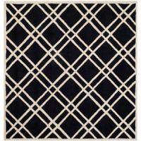 Safavieh Cambridge 6-Foot x 6-Foot Trina Wool Rug in Black/Ivory