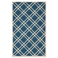 Safavieh Cambridge 6-Foot x 9-Foot Trina Wool Rug in Navy Blue/Ivory