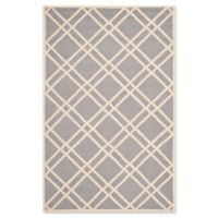 Safavieh Cambridge 6-Foot x 9-Foot Trina Wool Rug in Silver/Ivory