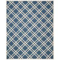 Safavieh Cambridge 8-Foot x 10-Foot Trina Wool Rug in Navy Blue/Ivory