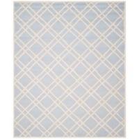 Safavieh Cambridge 9-Foot x 12-Foot Trina Wool Rug in Light Blue/Ivory