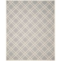 Safavieh Cambridge 9-Foot x 12-Foot Trina Wool Rug in Silver/Ivory